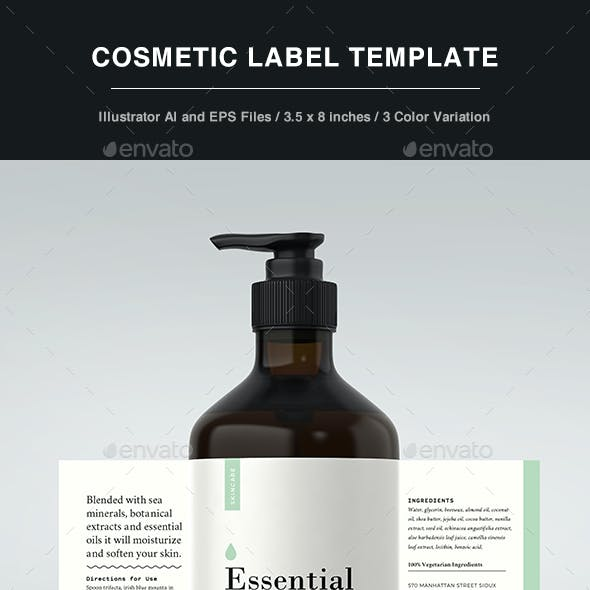 Cosmetic Label - Body Lotion