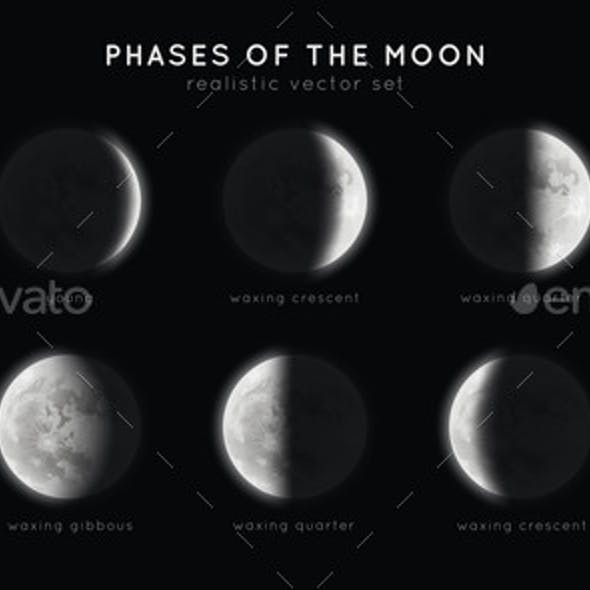 Realistic Phases of the Moon