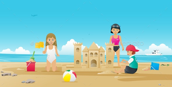 Sand Castle - Travel Conceptual