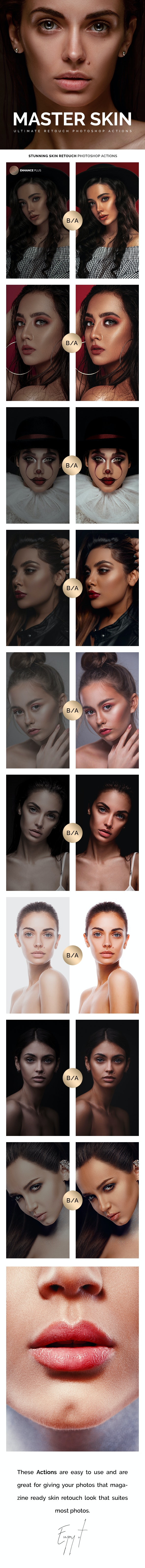 Master Skin Retouch 70 Photoshop Actions - Photo Effects Actions