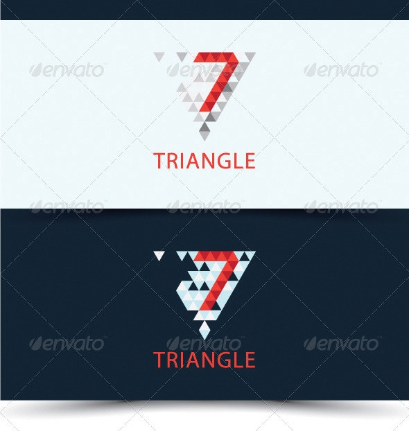 Triangle Logo - Numbers Logo Templates