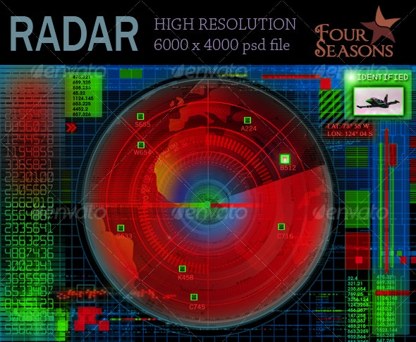 Abstract radar illustration - Tech / Futuristic Backgrounds