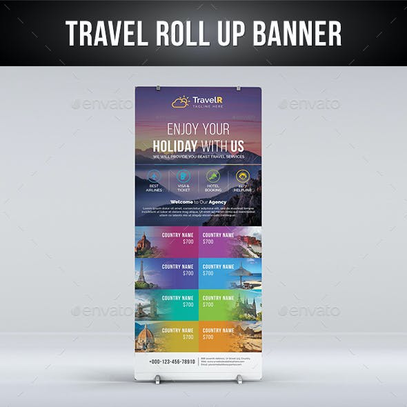 Travel Roll Up Banner