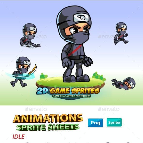 Ninja  2D Game Charcter Sprites
