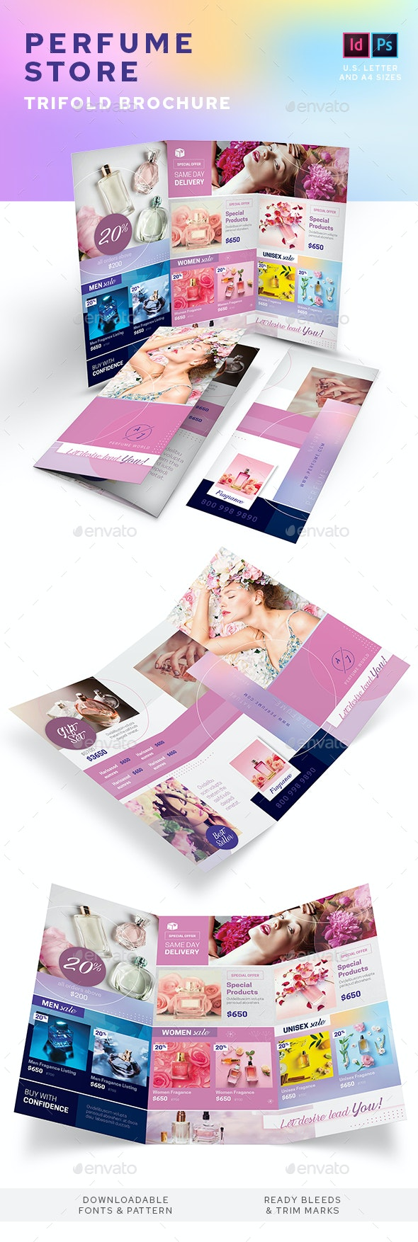 Perfume Store Trifold Brochure - Informational Brochures