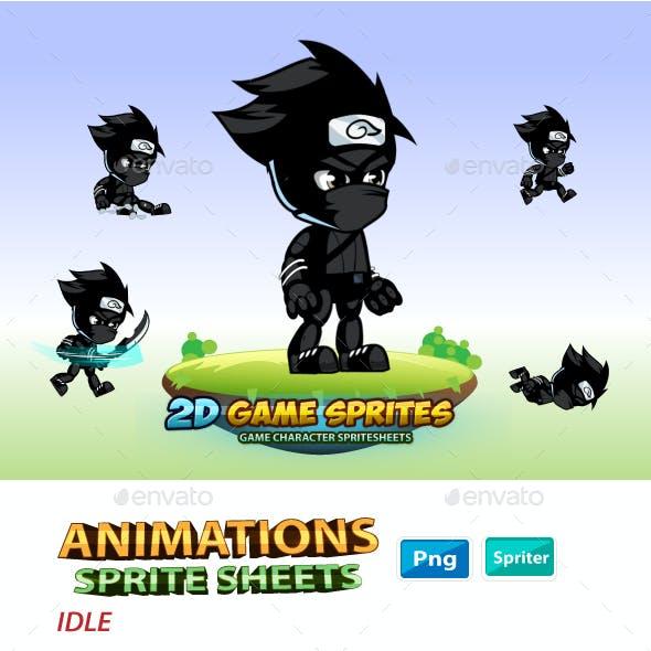 Shadow Ninja  2D Game Character Sprites