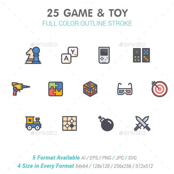 Game & Toy Color Icon