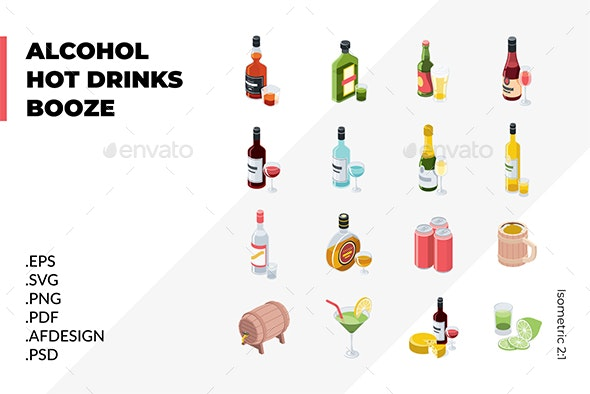 Alcoholic Drinks - Food Objects