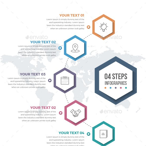 Infographics Template with 05 Steps