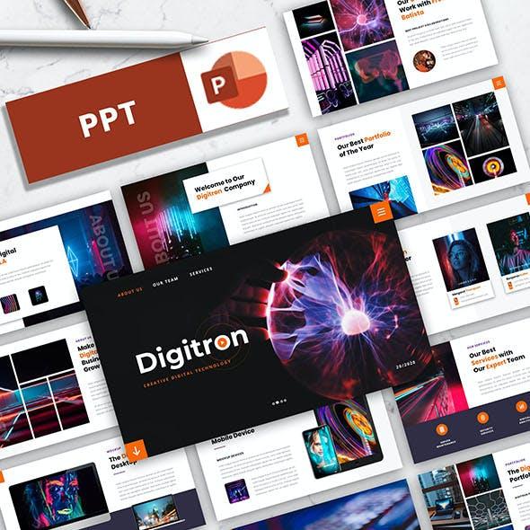 Digitron – Creative Digital Technology PowerPoint Template