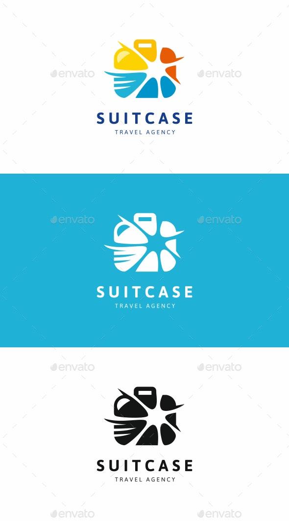 Travel Suitcase Logo - Abstract Logo Templates