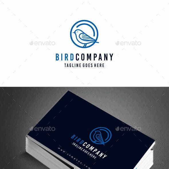 Bird circle logo