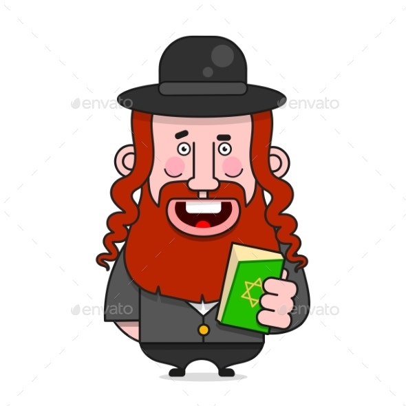 Bearded Jew in a Hat - People Characters