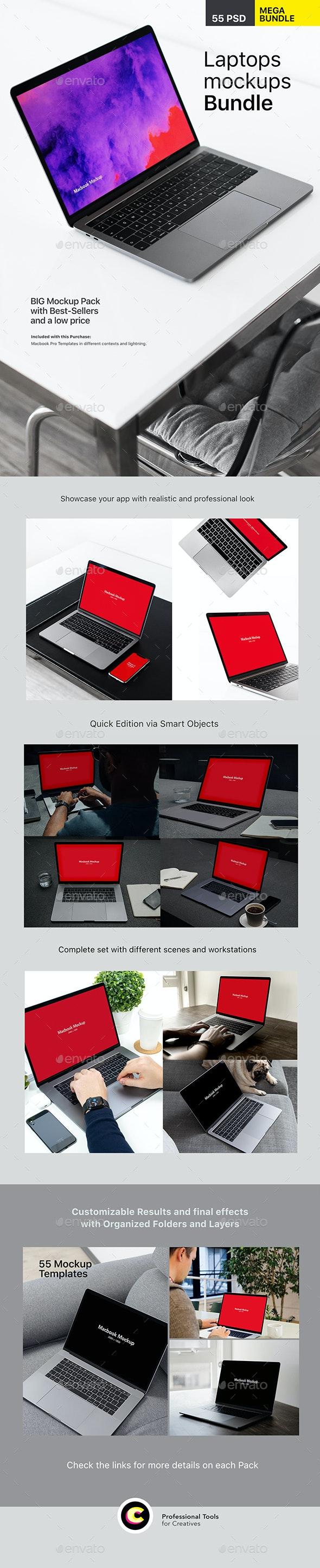Laptop Mockups Bundle - Laptop Displays
