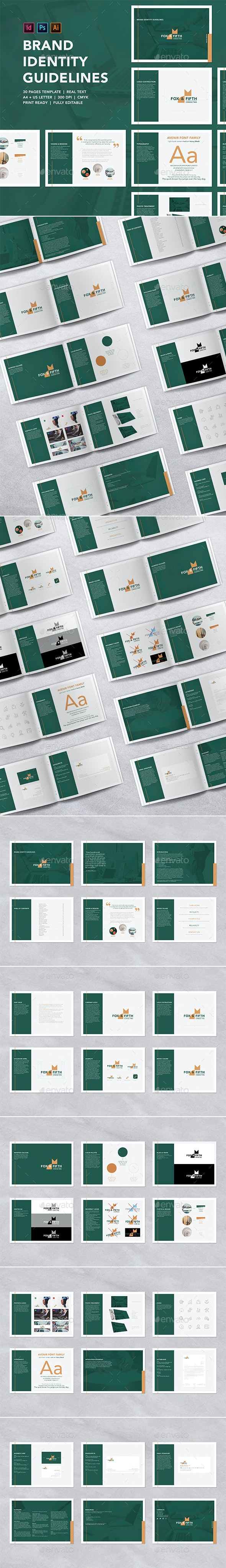 Brand Identity Guidelines Template - Corporate Brochures