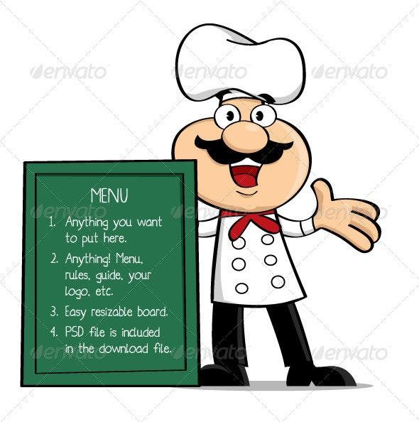 Happy Chef - Characters Vectors