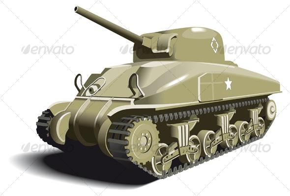 American Tank - Objects Vectors