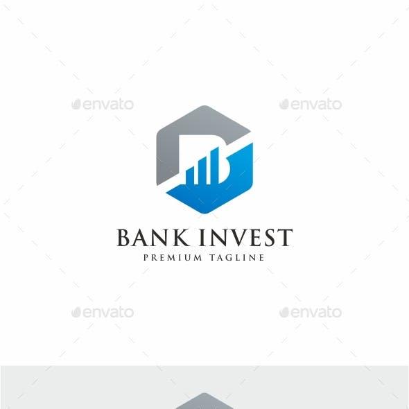 Bank Invest B Letter Logo