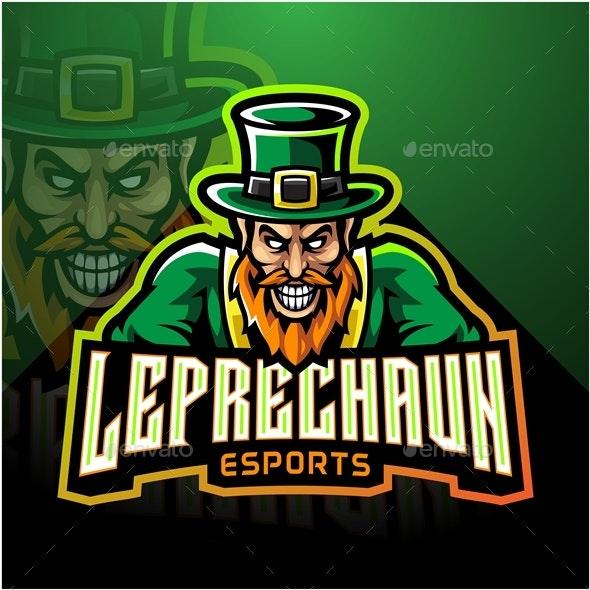Leprechaun Esport Mascot - People Characters