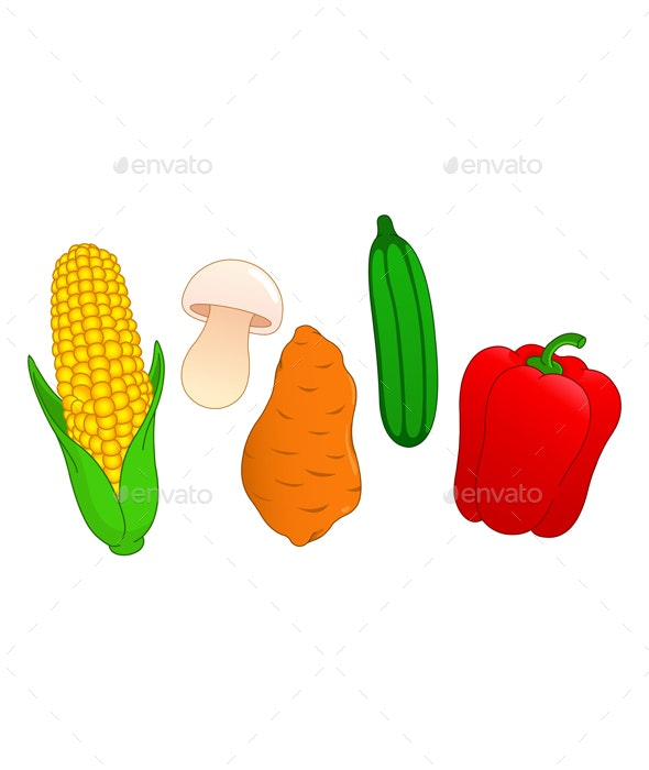 Vegetable Set 3 - Food Objects