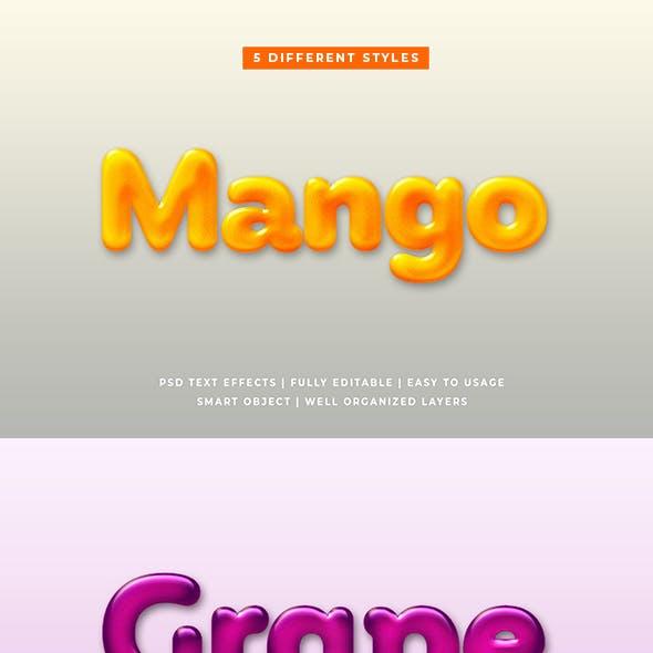 Liquid Fruit 3d Text Effects