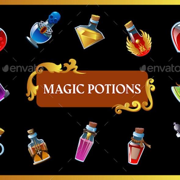 Magic Potion Game Background
