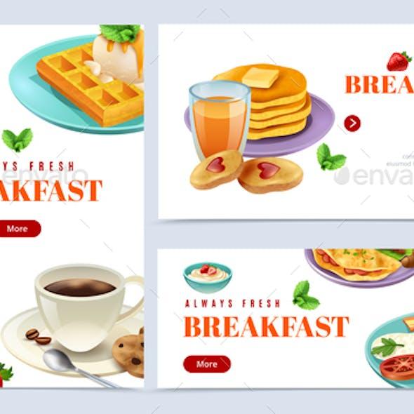 Always Fresh Breakfast Banner Set