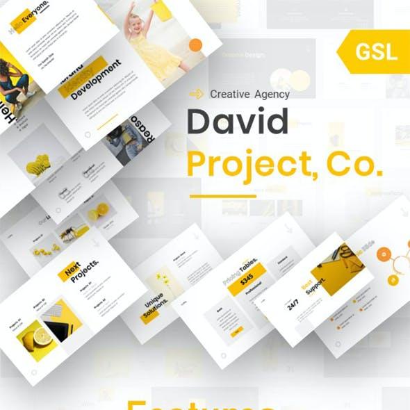 David - Creative Agency Google Slides