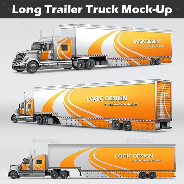 Long Trailer Truck Mock-Up
