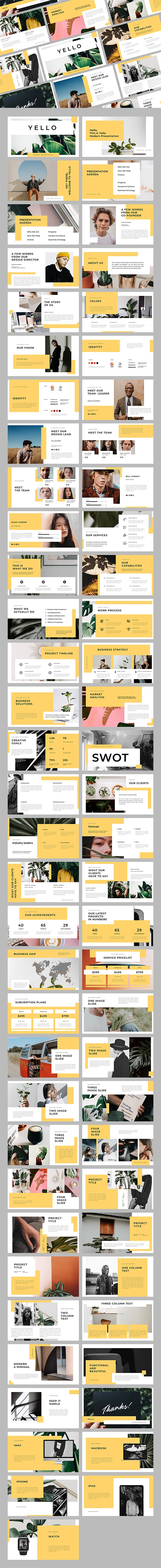 Yello Keynote Template - Creative Keynote Templates