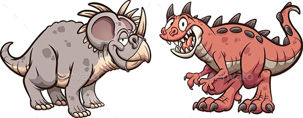 Styracosaurus and Carnotaurus - Animals Characters