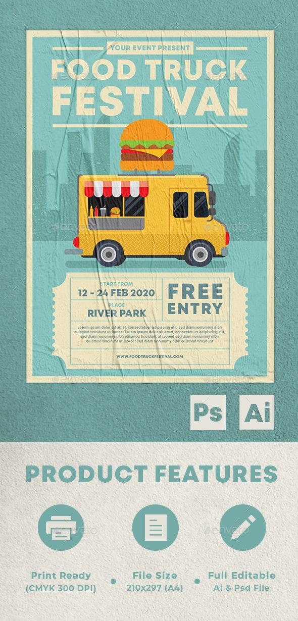 Food Truck Festival - Flyers Print Templates