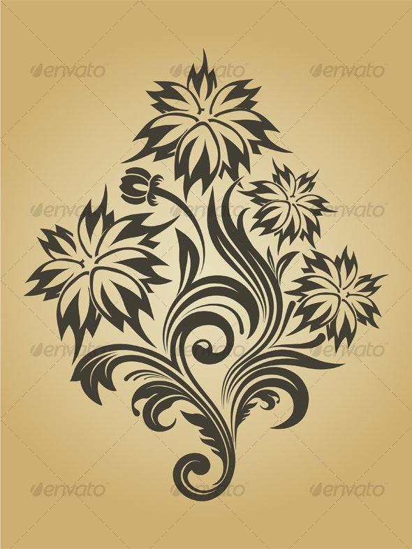 Vector flower - Decorative Vectors