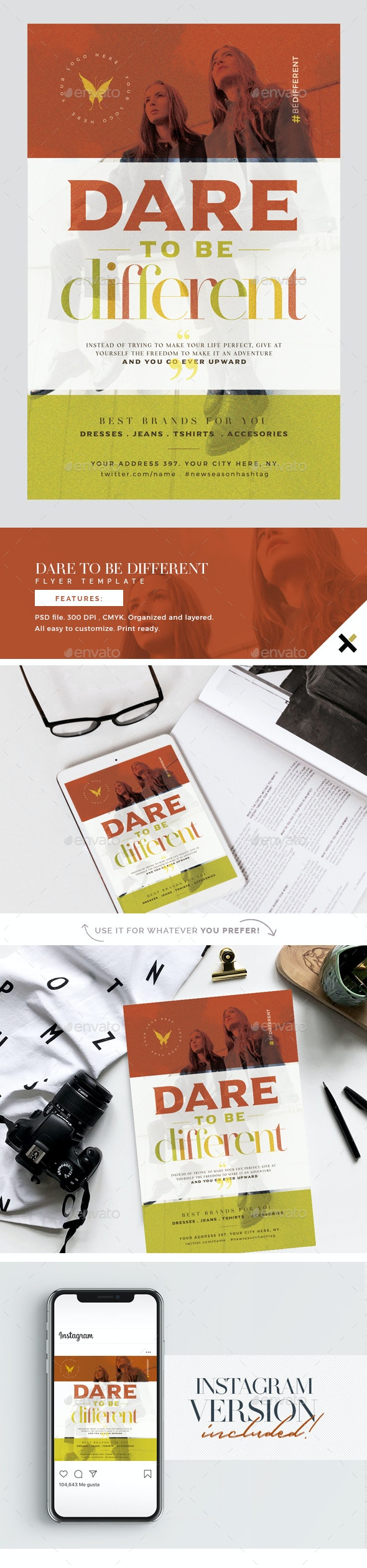 Dare To Be Different Flyer Template - Events Flyers