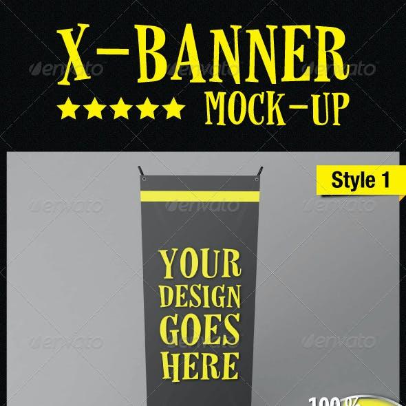 Standing X-Banner Mockup