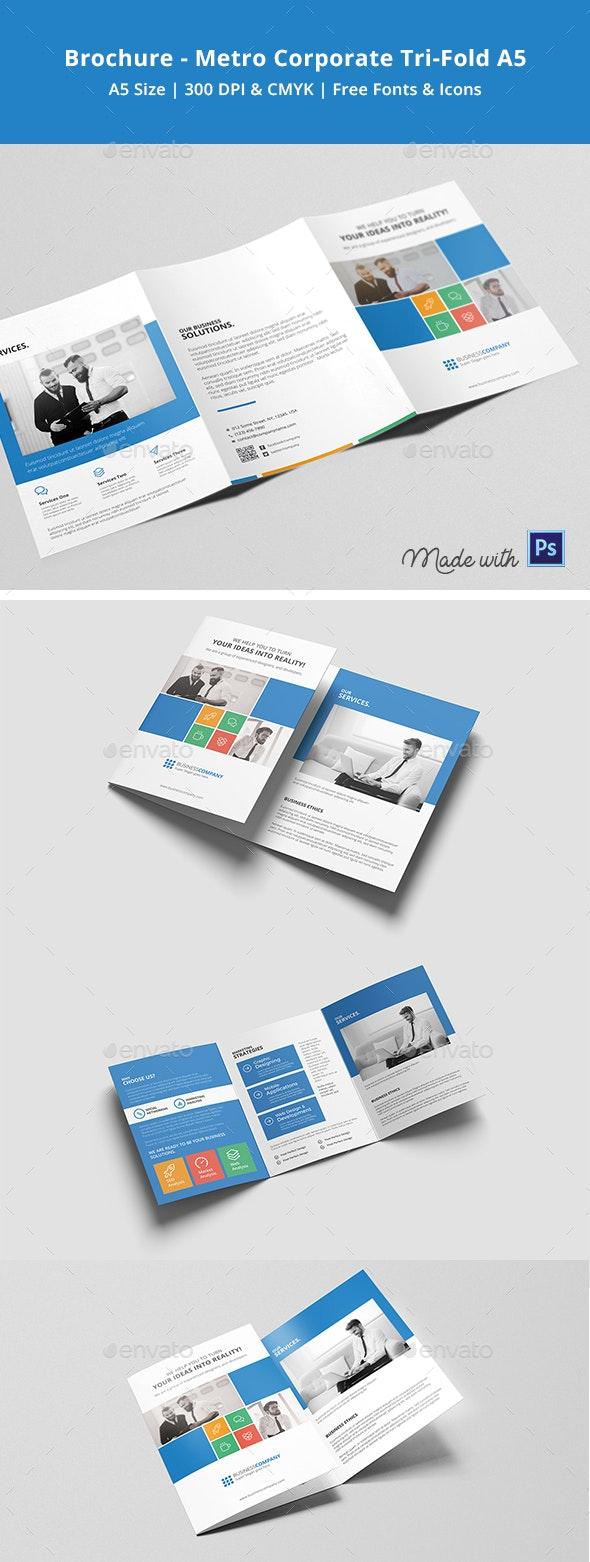 Metro A5 Tri-fold Brochure - Brochures Print Templates