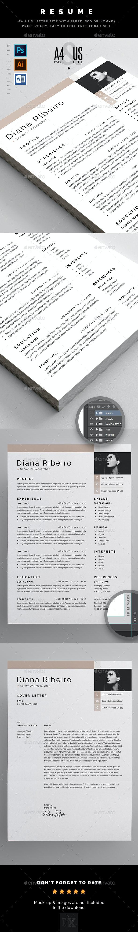 Resume/CV - Stationery Print Templates