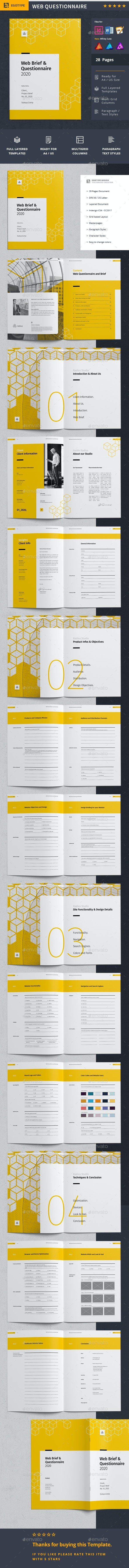 Web Brief Proposal - Proposals & Invoices Stationery