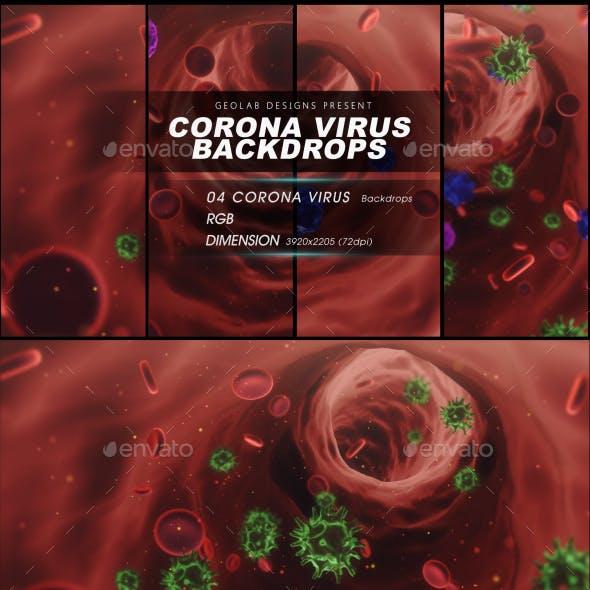 Corona Virus Backdrops l Virus Backdrops l Medical Backdrops l Healthcare Backdrops