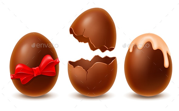 Chocolate Eggs Set - Food Objects