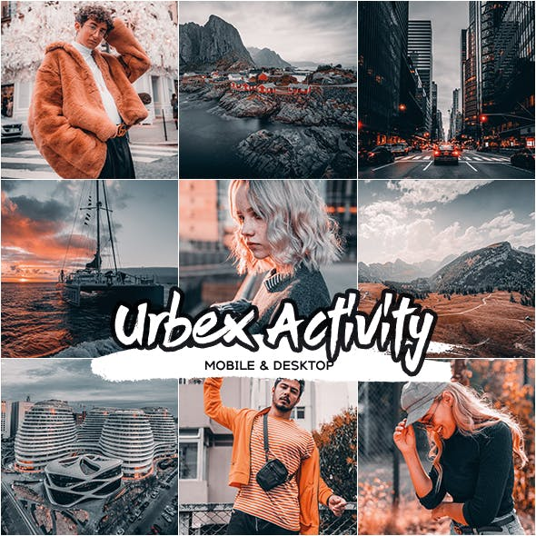 Urbex Street Activity Lightroom Desktop and Mobile Presets