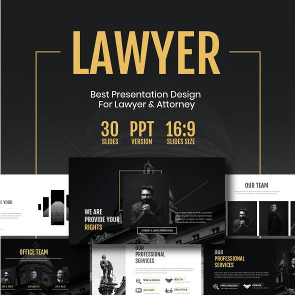 Lawyer & Attorney Presentation Powerpoint Template