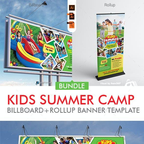 Kids Summer Camp Signage Bundle