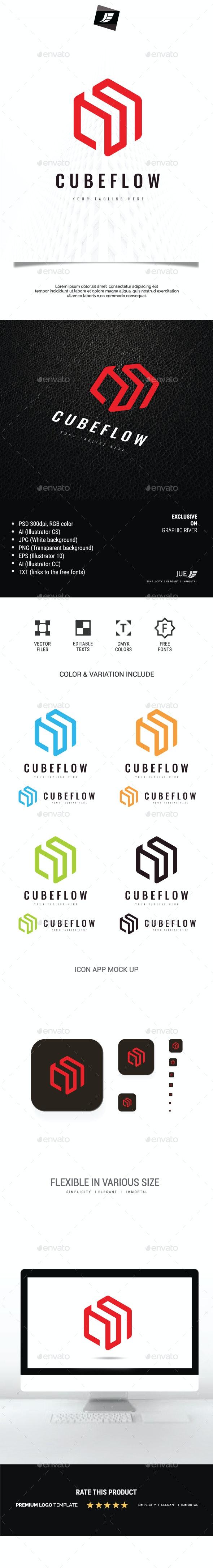 Cube Flow Logo - Buildings Logo Templates