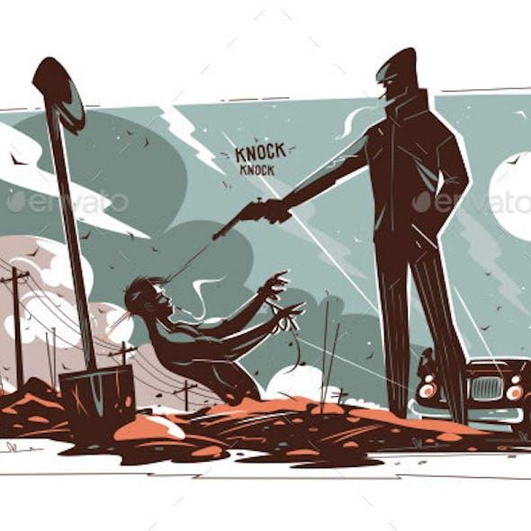 Gangsters Killing Man