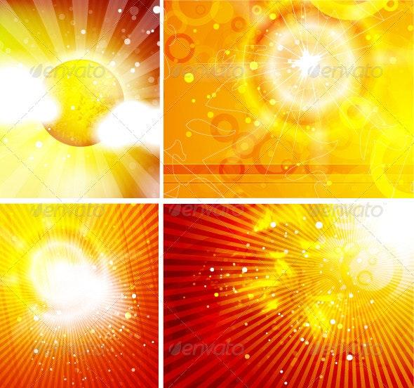 Shiny Sun Backgrounds - Nature Conceptual