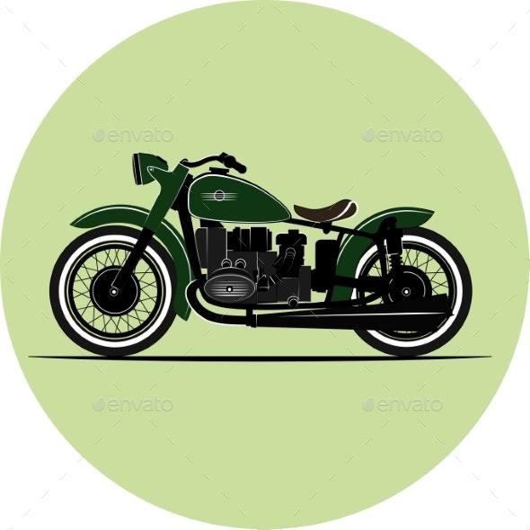 Vintage Motorcycle - Miscellaneous Vectors