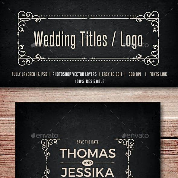Wedding Titles / Logos