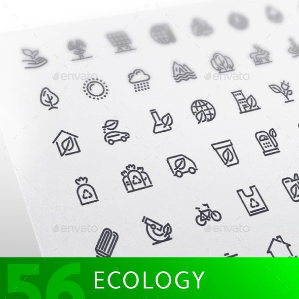 Ecology Line Icons Set