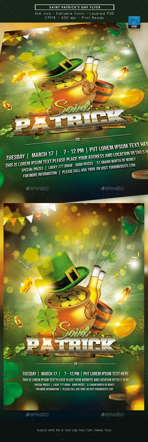 Saint's Patrick Day Flyer - Holidays Events